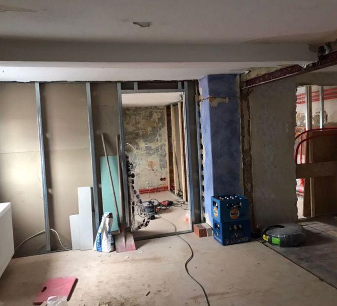 Renovierungsarbeiten an der Wohnung