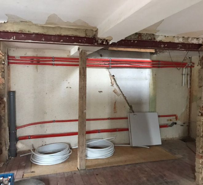 Küche während der Renovation