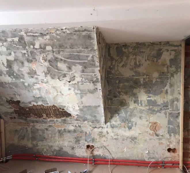 Schlafzimmer während der Renovation